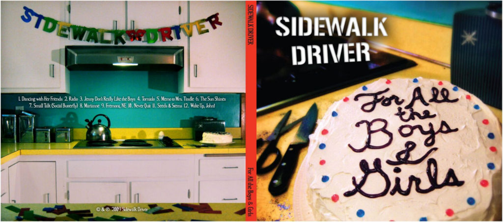 Sidewalk Driver: For All the Boys and Girls, CD front and back